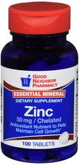 GNP Zinc 50mg, 100 Tablets