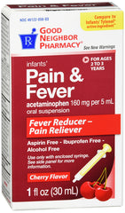GNP Infants' Pain and Fever Cherry Flavored, 1 Fl Oz