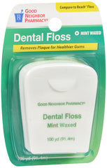 GNP Dental Floss Mint Waxed 100 Yards, Pack of 6