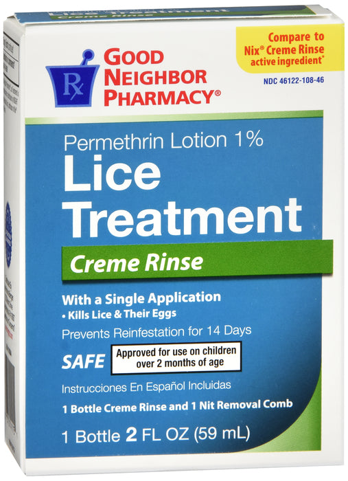 GNP Lice Treatment Creme Rinse, 2 Fl Oz