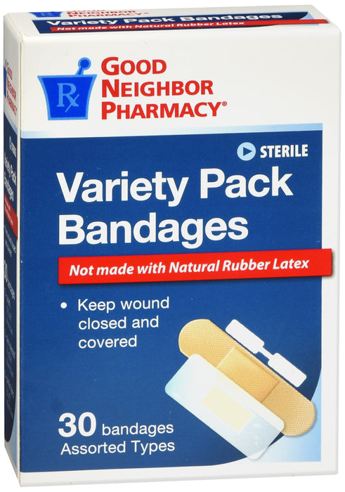 GNP Variety Pack Bandages, 30 Assorted Bandages