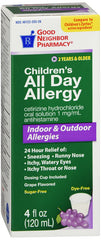GNP Children's All Day Allergy Grape Flavored Liquid, 4oz