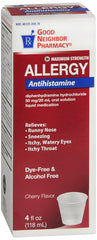GNP Maximum Strength Allergy Cherry Flavored, 4 Fl Oz