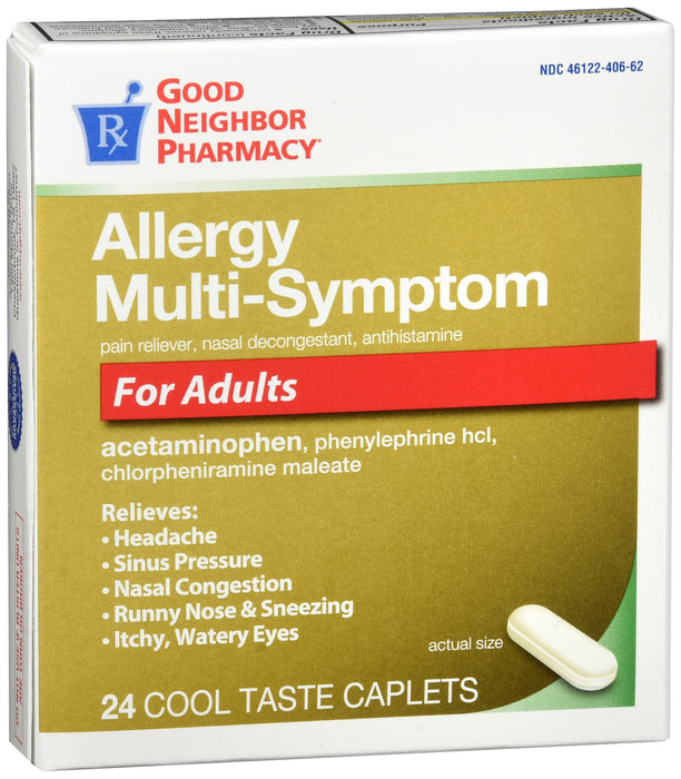GNP Allergy Multi-Symptom For Adults, 24 Caplets