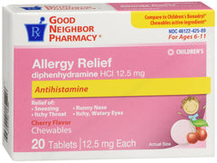 GNP Children's Allergy Relief  Cherry Flavored Chewables, 20 Tablets