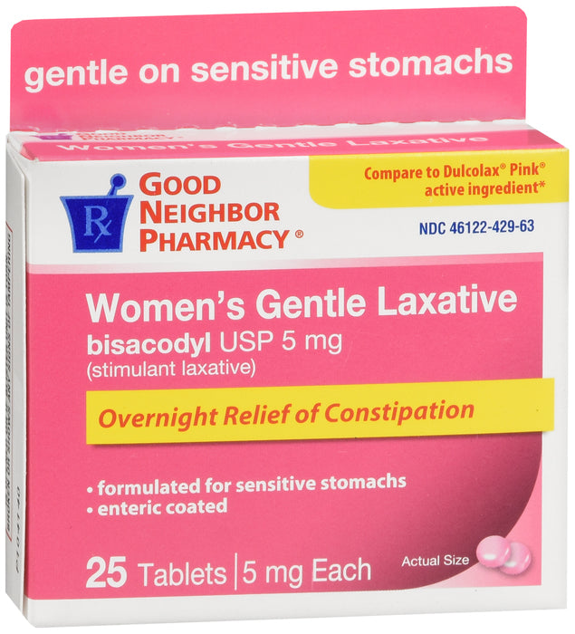 GNP Women's Laxative Gentle Tablets, 25ct