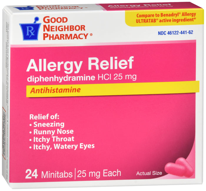 GNP Allergy Relief 25mg, 24 Mini Tablets