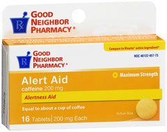 GNP Alert Aid 200mg, 16 Tablets