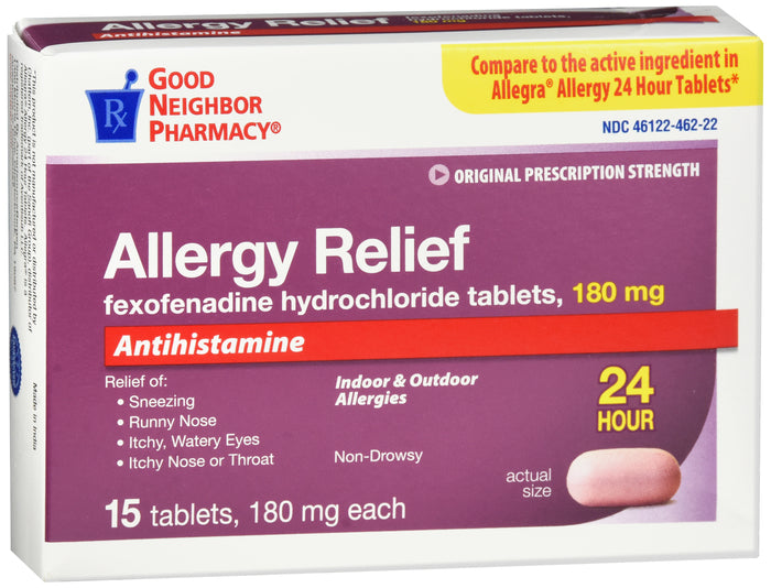 GNP Allergy Relief, 180mg, 15 Tablets
