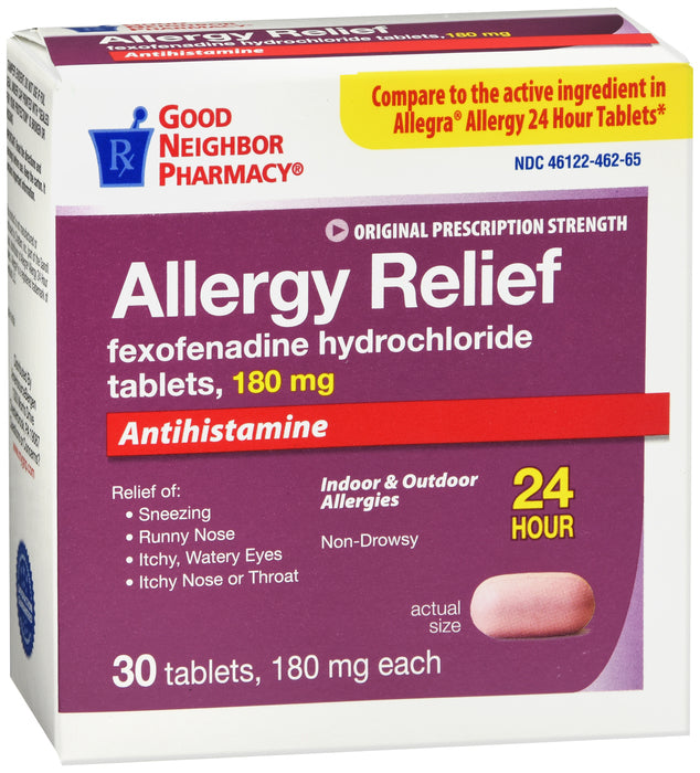 GNP Allergy Relief, 180mg, 30 Tablets