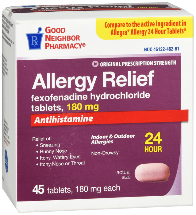GNP Allergy Relief, 180mg, 45 Tablets