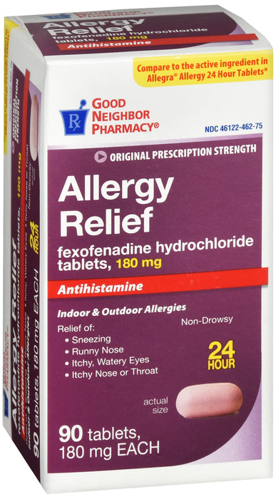 GNP Allergy Relief, 180mg, 90 Tablets