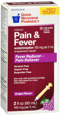 GNP Infants' Pain and Fever Grape Flavored, 2 Fl Oz