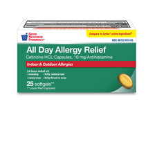 GNP All Day Allergy Relief 10mg, 25 Softgels