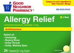 GNP Allergy Relief 4mg, 24 Tablets