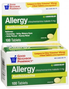 GNP Allergy Antihistamine 4mg, 100 Tablets