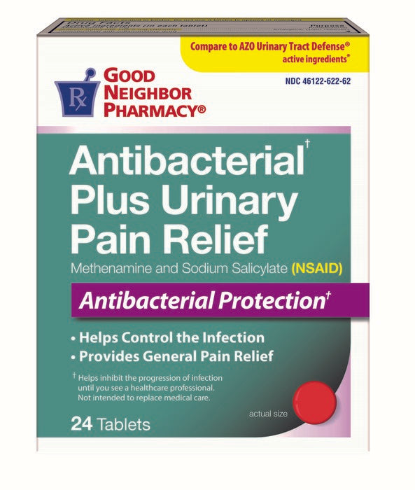 GNP Antibacterial Plus Urinary Pain Relief, 24 Tablets