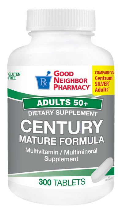 GNP Century Adult 50+ Mature Formula Multivitamin, 300 Tablets