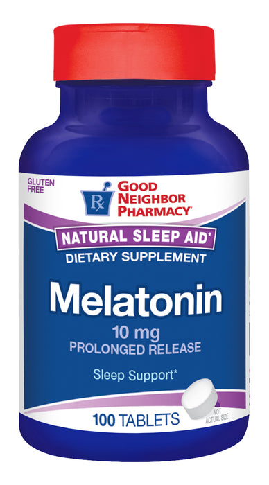 GNP Melatonin 10MG,100 Extended Release Tablets