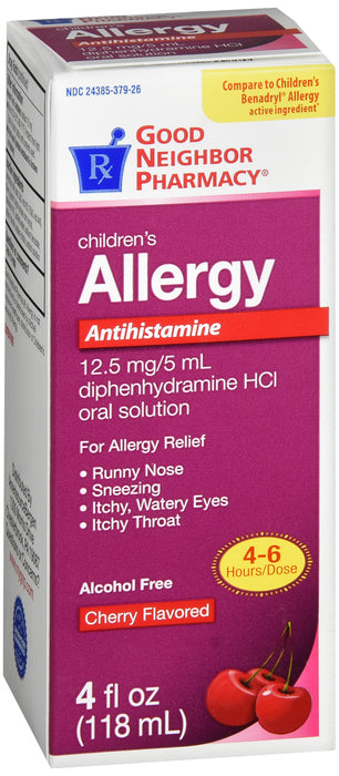 GNP Children's Allergy Cherry Flavored, 4 FL OZ