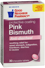 GNP Pink Bismuth Anti-Diarrheal, 30 Chewable Tablets