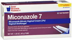 GNP Miconazole 7 Vaginal Cream, 1.59 Oz