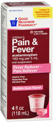 Children's Pain And Fever Bubble Gum Flavored, 4 Fl Oz