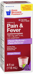 Children's Pain And Fever Grape Flavored, 4 Fl Oz