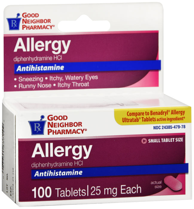 GNP Allergy 25mg, 100 Tablets