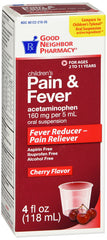 Children's Pain And Fever Cherry Flavored, 4 Fl Oz