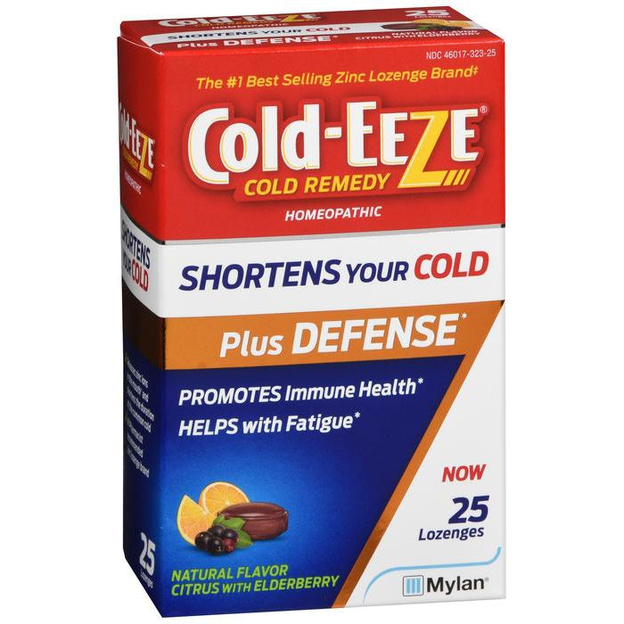 Cold Eeze Cold Remedy, Lozenges, Citrus with Elderberry - 25 lozenges
