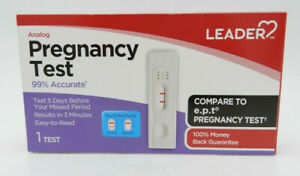 Leader Analog Pregnancy Test, 1 Count