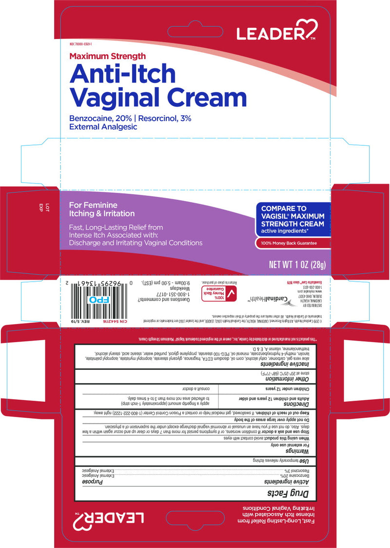 Leader Maximum Strength Anti-Itch Vaginal Cream, 1 Oz
