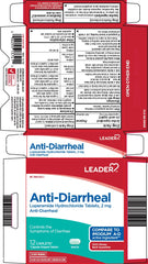 Leader Anti-Diarrheal Tablets, 12 Count