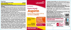 Leader Aspirin Delayed Release Tablets, 325mg, 300 Count