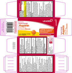 Leader Aspirin 325mg, 125 Enteric Coated Tablets