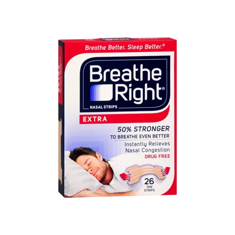 Breathe Right Nasal Strips Extra, 26 Tan Strips