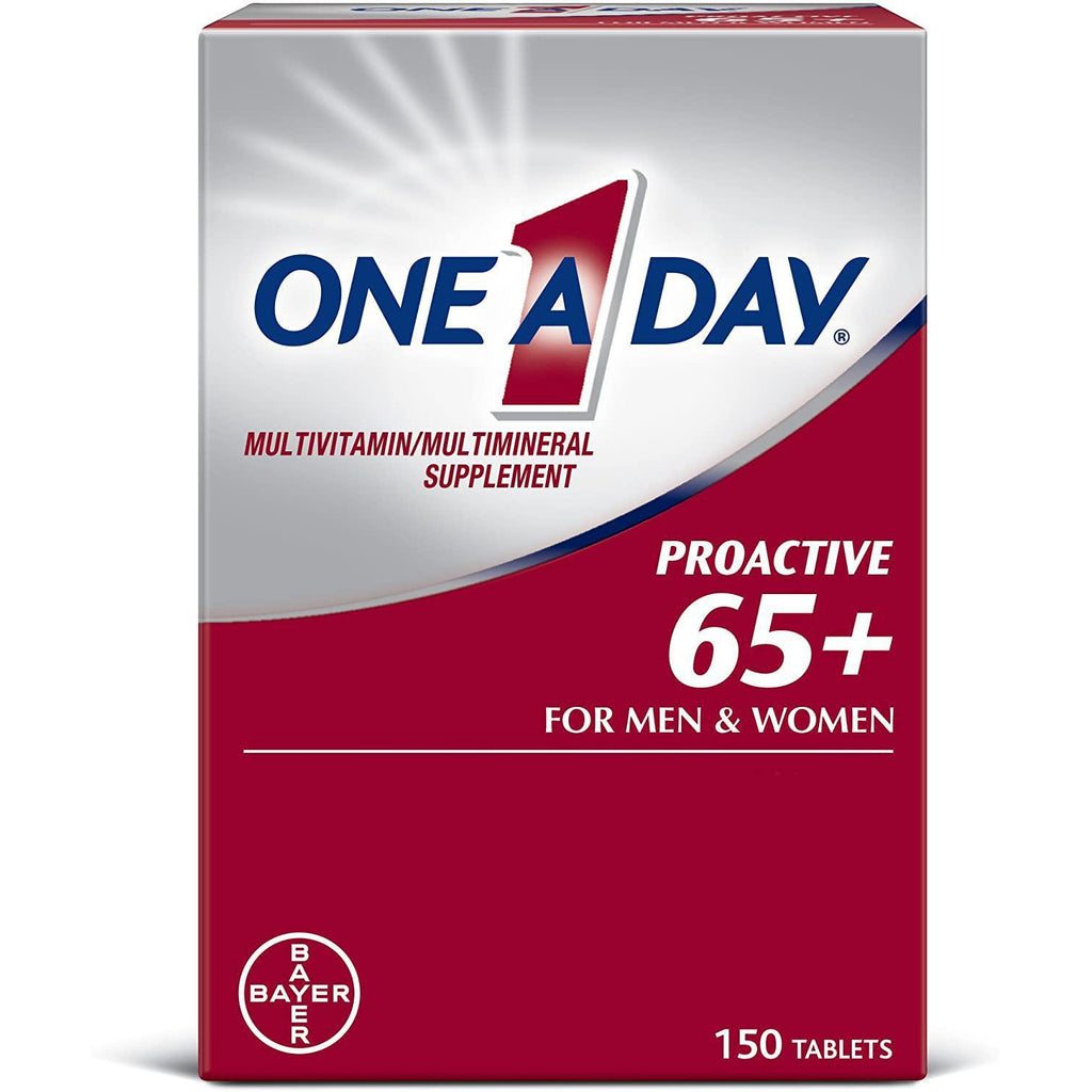 One A Day Proactive 65+, Mens & Womens Multivitamin, 150 tablets