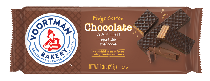 Voortman Fudge Coated Chocolate Wafers 8.3 oz