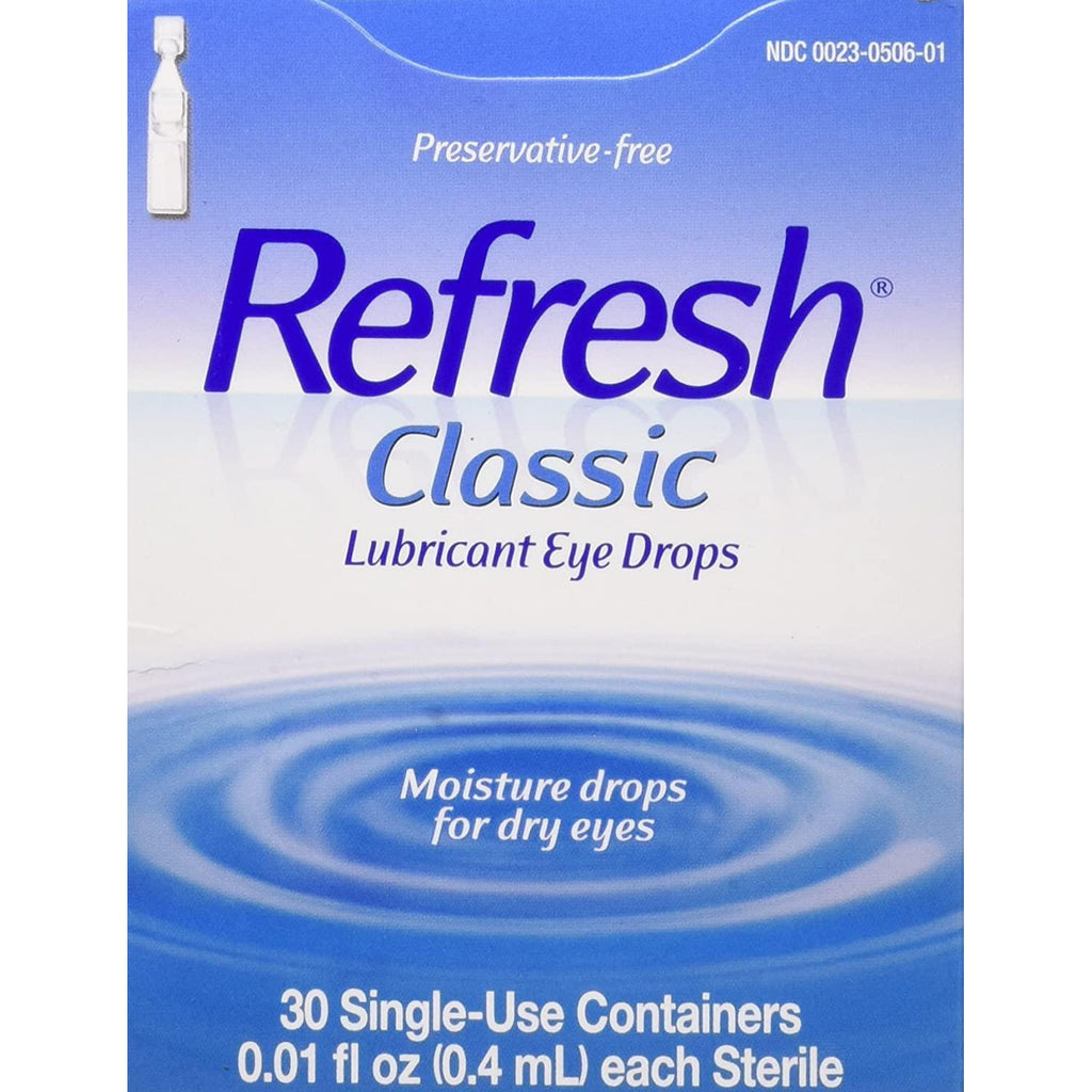 Refresh Eye Drops Individual Dose 30/box, 0.01 Fl oz (0.4 ml)