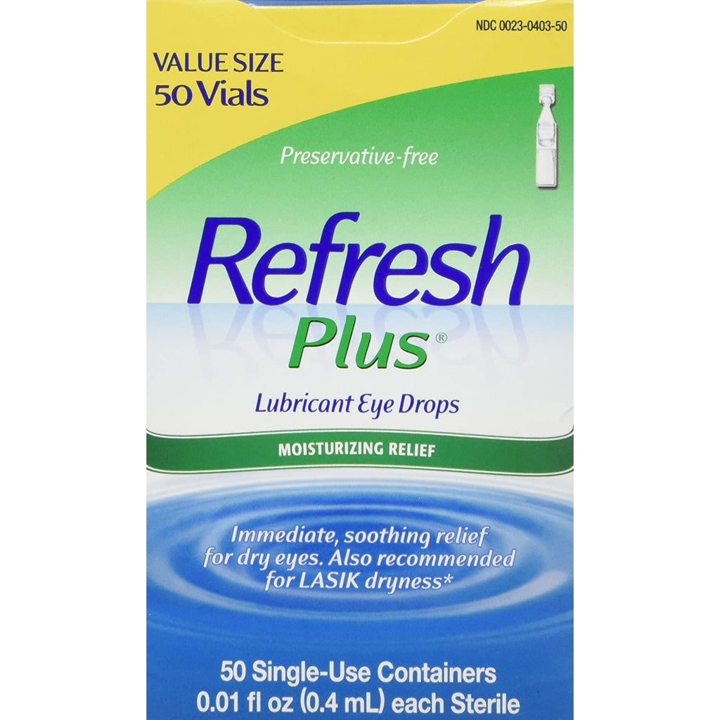 Refresh Plus Eye Drops Individual Dose 50/box 0.01 Fl oz (0.4 ml)