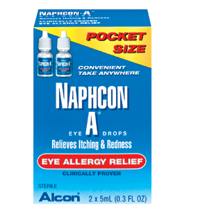 Naphcon-A Allergy Red Itch Relief Eye Drops, Two 5 ml Bottles