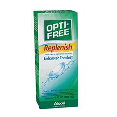 OPTI-FREE Replenish Multipurpose Contact Lens Disinfecting Solution, 4 Fl. Oz.