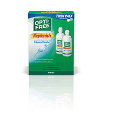 Opti-Free Replenish Multi-Purpose Disinfecting Solution with Lens Case, 10 Fl Oz Each, Twin Pack
