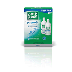 Opti-Free Puremoist Multi-Purpose Disinfecting Solution with Lens Case, Twin Pack, 10 oz