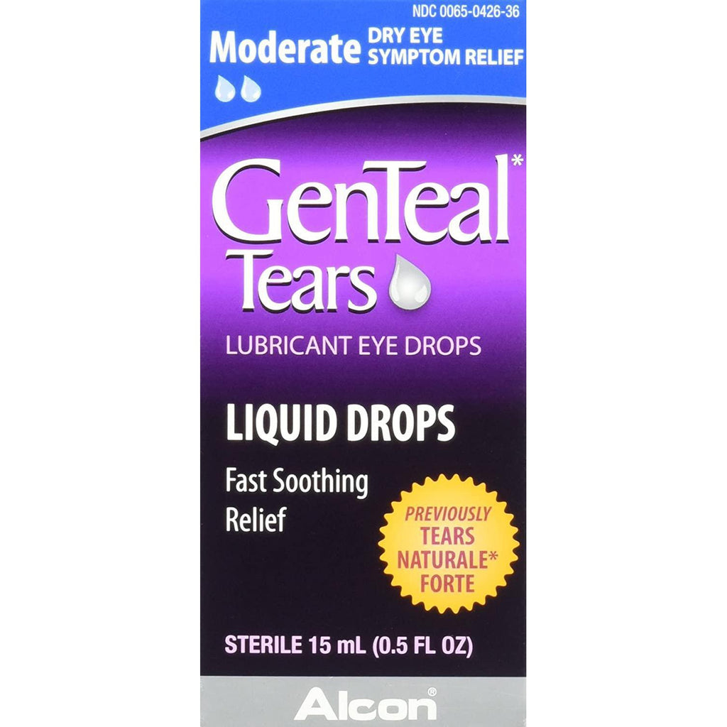 GenTeal Tears Moderate Lubricant Eye Drops, 15 ml
