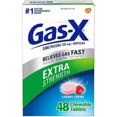 Gas-X Extra Strength Chewable Tablets with Cherry Creme, 48 Count