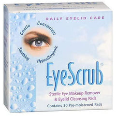 Eye Scrub Sterile Eye Makeup Remover & Eyelid Cleansing Pads, 30 Count