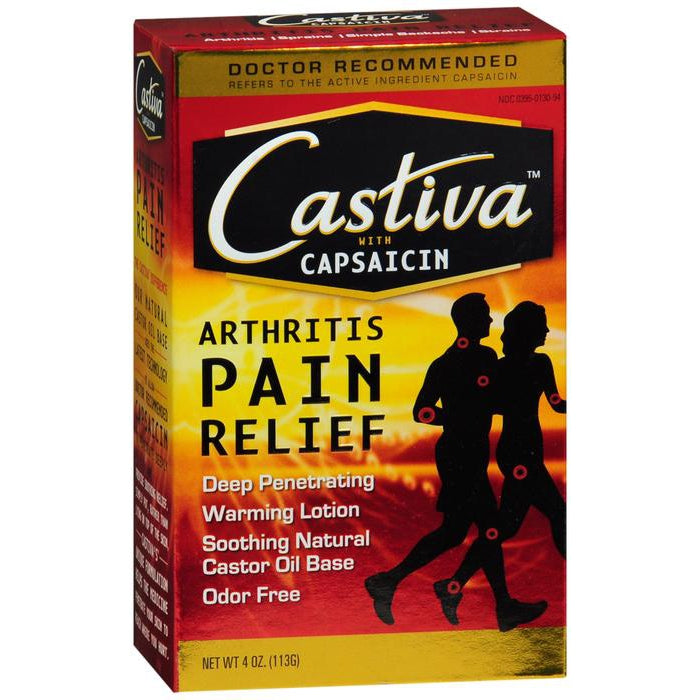 Castiva Warming Arthritis Pain Relief Lotion, 4 Oz