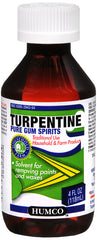 Humco Turpentine Liquid Pure Gum Spirits, 4 Oz